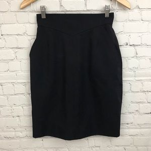 Vintage Chanel Pocketed Mini Skirt Navy